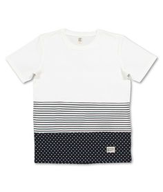Dot Border Short Sleeve(White)