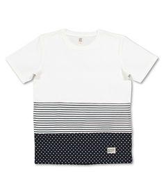 Dot Border Short Sleeve(White)