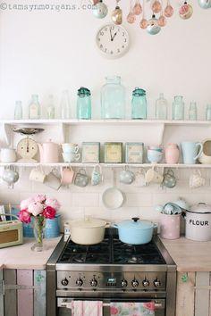 The Villa on Mount Pleasant: My Pastel Kitchen