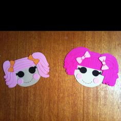 Lalaloopsy heads. I had so much fun Making these. Foam, card and textas, so easy!