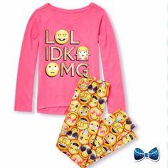 Ages 7-14 Years Pjs Girls EMOJI Unicorn Vibes Rainbow Short Summer  Pyjamas