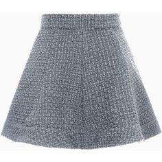 Choies Gray Tweed Skater Skirt (1.985 RUB) ❤ liked on Polyvore