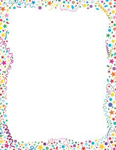 Printable confetti border. Free GIF, JPG, PDF, and PNG downloads at http://pageborders.org/download/confetti-border/. EPS and AI versions are also available.