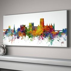 Large Panoramic Canvas white background