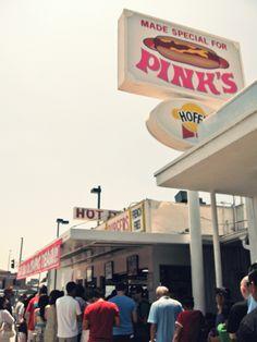 Pink's Hotdog, 709 N. La Brea Ave., Los Angeles, CA 90039 to die for!!!!