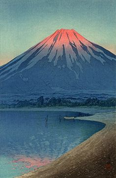 "Japanese Art Print ""Lake Yamanaka and Mt. Fuji"" by Kawase Hasui. Shin Hanga and Art Reproductions http://www.amazon.com/dp/B00ZJZA1Q4/ref=cm_sw_r_pi_dp_AwUuwb1J8RSST"