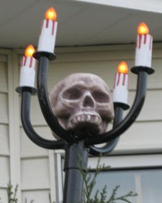Scary Candelabra - diy out of pvc