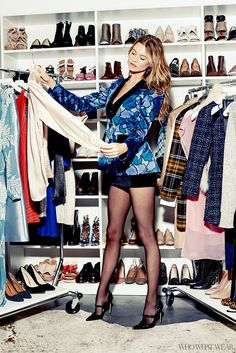 Exclusive: Behati Prinsloo Takes Over the Who What Wear Office via @WhoWhatWearUK