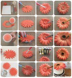 How To Make Gerbera Flower Tutorial