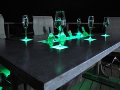 For the extreme Maker, here's how to build a countertop with built in LEDs and beverage cooler. A great idea for a home bar or patio!