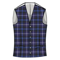 Men's tartan waistcoat with straight cut bottom pictured in Patriot Modern #tartan. What's your style?