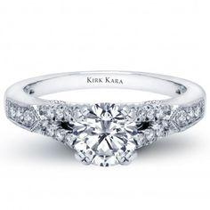 Kirk Kara XO collection diamond engagement ring