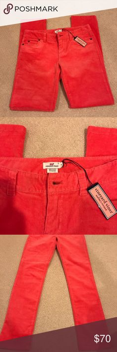Vineyard Vines 5 Pocket Cords (Salmon) NWT NWT Vineyard Vines salmon corduroys. Straight/skinny leg. Never worn and super cute! Also I inserted someone else's picture of the pants to help see the true color because they look orange in the picture but are a true salmon/pinky tone Vineyard Vines Pants