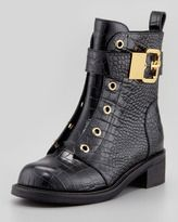 Giuseppe Zanotti Embossed Laceless Combat Boots. GET IT HERE! http://www.topfloor.com/mydesigns4you/1124 #shoes #lookbook #mydesigns4you #fashion #look #beauty #stylehaul #topfloor #topfloorboutique  #outfit #celebrity #style #sexy #hot #trend #boots #heels