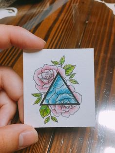 not a triangle Body Art Tattoos, Tatoos, Triangle Art, Learn Art, Color Pencil Art, Easy Drawings, Art Inspo, Art Sketches, Painting & Drawing