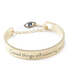 Take a look at the Gold Positivity Cuff on #zulily today!