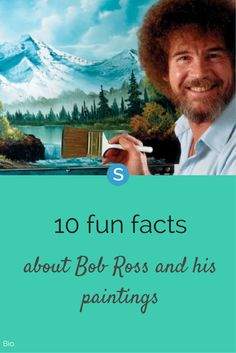 10 happy little facts about Bob Ross and his paintings! http://simplemost.com/happy-little-facts-bob-ross-paintings?utm_campaign=social-account&utm_source=pinterest&utm_medium=organic&utm_content=pin-description