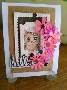 Mi Scrap: hello card Card Making, Scrapbook, Frame, Blog, Cards, Decor, Card Stock, Paper Envelopes, Flowers