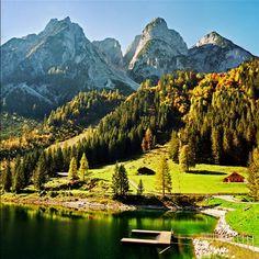 Magical Lake, Austria, where sou.d of music was filmed