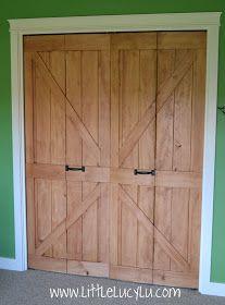 Bi-Fold to Barn Doors, good alternative for the sliding barn door!