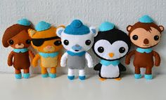 Octonauts- made from felt. My little girl would love these.