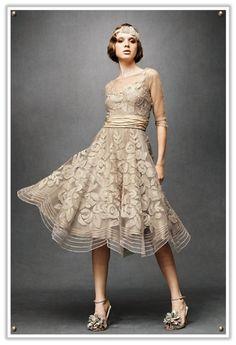 Image detail for -... 1920s vintage style flapper wedding dress brocade style vintage