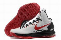 innovative design bfc32 199eb Authentic Nike Zoom KD V 5 White Black Red Basketball Shoes For Wholesale