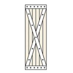 Perfect Shutters 10.25W in. Closed Board-N-Batten Vinyl Shutters Brick Red - 1361059005C013