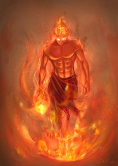 Ifrit- Arabic myth: a type of jinn that is depicted as an enormous winged, fire creature. They can be evil or good. Character Concept, Character Art, Concept Art, Mythological Creatures, Mythical Creatures, Fantasy Kunst, Fantasy Art, Angels And Demons, Gods And Goddesses