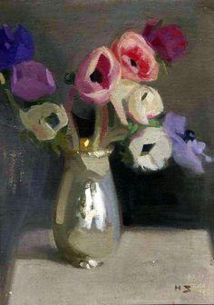 F I N S K A: Helene Schjerfbeck, tišina koja govori Helene Schjerfbeck, Still Life Flowers, Love Art, Helsinki, Art Photography, Illustration Art, Sculpture, Artwork, Painting