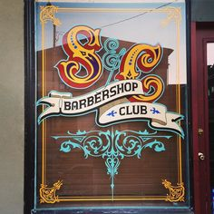 Finished with this one. Another happy customer @scumbagsandcavaliers #oneshot #handpainted #signs #signpainting #windowlettering #barbershop by dannosblackheartdesigns