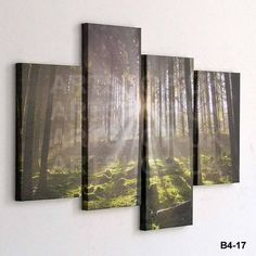 4 PIECE LARGE CANVAS PICTURE STAGGERED WALL ART MULTI SPLIT PANEL HANGING DESIGN | eBay