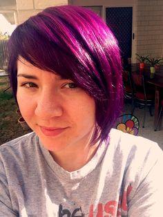 Manic Panic fushia shock and violet mixed hair