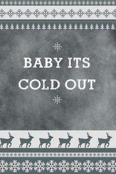 Christmas nordic pattern baby it's cold out iPhone wallpaper