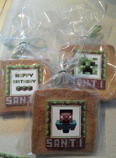 Galletas de mantequilla con tema Minecraft.
