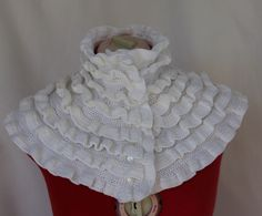 A personal favorite from my Etsy shop https://www.etsy.com/listing/91213453/white-crochet-collar-ruffles-handmade