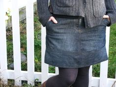 A denim skirt from old jeans that doesn't look like a denim skirt from old jeans......