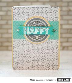Hero Arts Cardmaking Idea: Happy