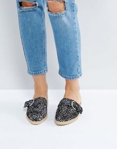 The March Spotted Flat Mules