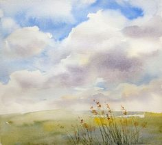 Your Head in the Clouds How To Paint a Realistic Watercolor Sky Skies are bound to show up in your paintings but theyre not just a background Clouds and sky color can gr. Watercolor Clouds, Watercolor Tips, Watercolor Projects, Watercolour Tutorials, Watercolor Techniques, Watercolour Painting, Painting & Drawing, Simple Watercolor, Watercolor Background