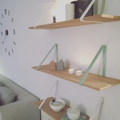 ferm LIVING Shelf and Shelf Hangers: http://www.fermliving.com/webshop/shop/furniture/shelf-oiled-oak.aspx