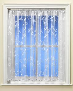 'Juliette Lime Voile Curtain' with trailing leaf embroidery custom made from from Net Curtains Direct Voile Curtains, Blue Back, Curtain Poles, Drip Dry, Natural World, Backdrops, Lime, Curtains Direct, Design