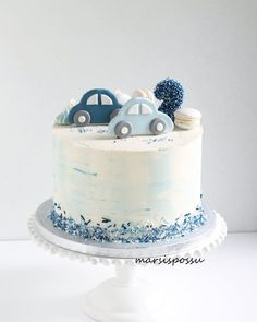 No photo description available. - # available # description # photo cake decorating recipes kuchen kindergeburtstag cakes ideas Boys First Birthday Cake, Baby Birthday Cakes, Baby Boy Cakes, Gateau Baby Shower, Baby Shower Cakes, Cake Cookies, Cupcake Cakes, Cupcakes, Bolo Cake