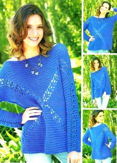 Crochet Sweater - Chart ❥ 4U hilariafina  http://www.pinterest.com/hilariafina/