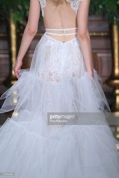 A model, fashion detail, walks the runway at the Galia Lahav Bridal Runway Show Spring/Summer 2016 at Villard at the Palace Hotel on April 18, 2015 in New York City.