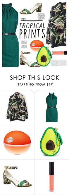 """""""Untitled #3191"""" by ansev ❤ liked on Polyvore featuring DKNY, Betsey Johnson, Bettye Muller and Estée Lauder"""