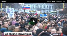 Protest Košice - archív TV Joj 9.3.2018 - minutáž 12:30 Times Square, Tv, Television Set, Television