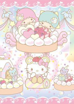★ Baby Mon Cher ★ Little Twin Stars ★ Hello Kitty ★ Sanrio Hello Kitty, Chat Hello Kitty, Hello Kitty My Melody, Kitty Kitty, Sanrio Wallpaper, Hello Kitty Wallpaper, Kawaii Wallpaper, Kawaii Shop, Kawaii Art