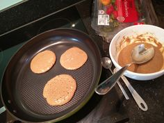 Protein pancakes  The simplest but tastiest breakfast  Gluten free, dairy free, refined sugar free