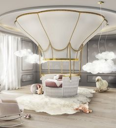 4 Amazing Kids Products That Will Make You Smile | Interior Desire - Air Balloon Bed By circu.net